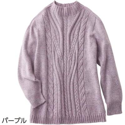 婦人ホールガーメントセーター 97675 縫い目がないから、きれいなシルエットで快適な着心地ね