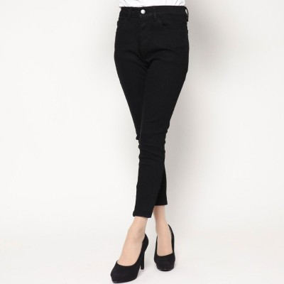 ゲス GUESS MARILYN 3-ZIP SKINNY DENIM PANT(BLACK)【JAPAN EXCLUSIVE ITEM】
