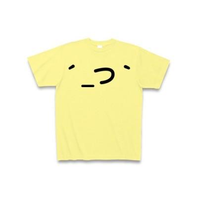 モノクロ版:だんご三兄弟( ´_つ`)両面 Tシャツ(ライトイエロー)