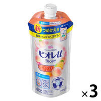 花王ビオレu スイートピーチの香り ボディウォッシュ 詰め替え 340ml 1セット(3個) 花王