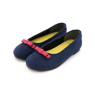 (セスト)キッズ バレエシューズ 女の子用 子供靴 TMK200 (ネイビー 18.0 cm)
