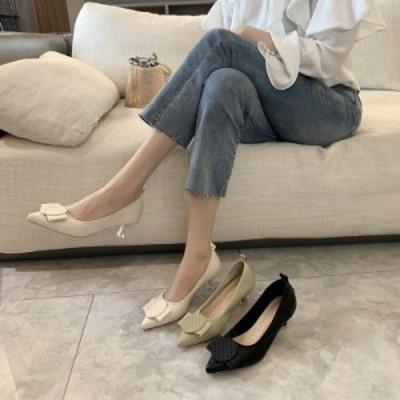 レディースシューズ ローヒールパンプス 新作 ポインテッドトゥ 革靴 婦人靴 アウトドア 日常感 おしゃれ 人気 上品 ローファー 大人