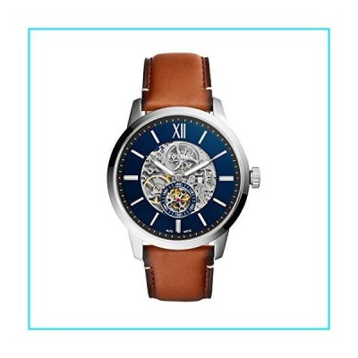 Fossil Men's Townsman Auto Automatic Leather Multifunction Watch, Color: Silver/Blue, Brown (Model: ME3154)【並行輸入品】