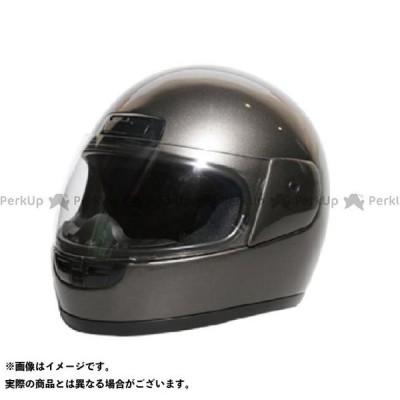 【無料雑誌付き】NBS フルフェイスヘルメット ヘルメット フルフェイス KC-660 カラー:ガンメタ エヌビーエス