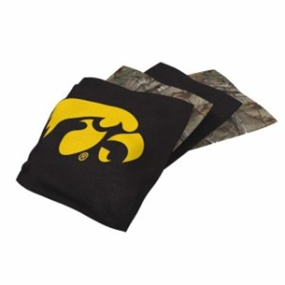 Wild Sales ワイルド セールス スポーツ用品  Iowa Hawkeyes 4-Pack Realtree Cornhole Bean Bags Set
