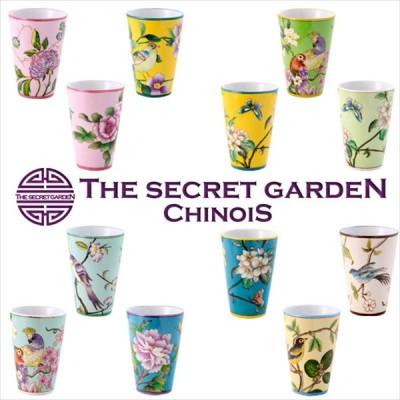 THE-SECRET-GARDEN シノワズリ ゴブレット 全12種類 花鳥柄 オールハンドペイント 手塗 陶器 コップ マグカップ ペン立て ザ・シークレットガーデン シノワ