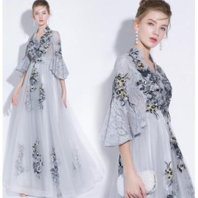 ブライダル 花嫁ウェディングドレス/結婚式/礼服 / パーティードレス/ワンピース//ドレス ロングタイプ イブニングドレス スカート袖あり