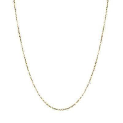 ファッションアクセサリー アンブランデッド 14k Yellow Gold Diamond-cut Rolo Chain Necklace Yellow