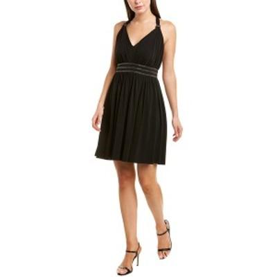 ザ・クープルス レディース ワンピース トップス The Kooples Jersey Muslin A-Line Dress black