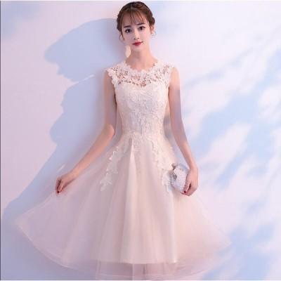 ノースリーブ 花嫁 ブライダル 素敵 ワンピース大きいサイズ 結婚式 花嫁 二次会 パーティードレス プリンセスライン 個性的 ウエディングドレス 可愛い Aライン