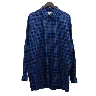 【7月9日値下】Graphpaper 19SS L'ECHOPPE別注 オーバーサイズチェックシャツ (中目黒店)