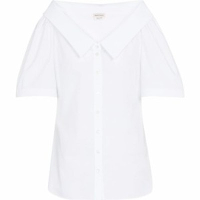 アレキサンダー マックイーン Alexander McQueen レディース ブラウス・シャツ トップス cotton shirt Optical White