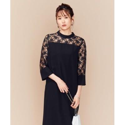 組曲/クミキョク 【PRIER】レーススリーブサックワンピース ドレス ブラック系 2