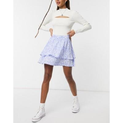 ジェイディーワイ JDY レディース ミニスカート スカート Ricky Ruffle Mini Skirt In Hydragea