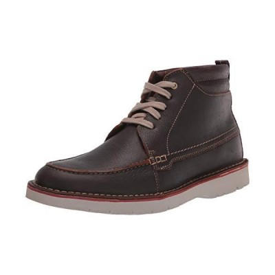 Clarks Men's Vargo Moc Ankle Boot, Brown Tumbled Leather, 12M