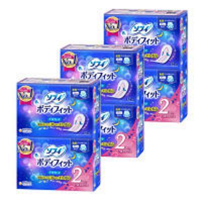ユニ・チャームナプキン 生理用品 夜用 羽なし ソフィ ボディフィット ナイトガード 1セット(12枚×2個)×3 ユニ・チャーム