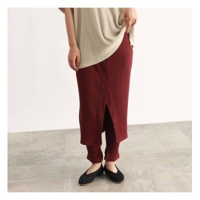 【オゾック/OZOC】 [洗える]スカートドッキングレギンスレイヤードパンツ