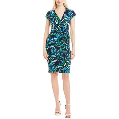 マギーロンドン ワンピース トップス レディース Maggy London Wrap Dress navy/ocean blue