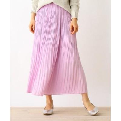 【手洗いOK】ビンテージサテンプリーツスカート