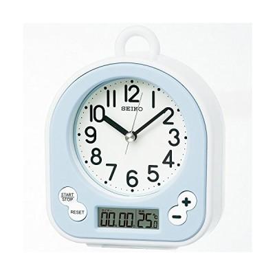 薄青 セイコー クロック 掛け時計 置き時計 兼用 生活防水 タイ