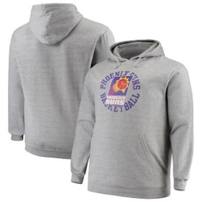 ミッチェル&ネス メンズ パーカー・スウェット アウター Phoenix Suns Mitchell & Ness Big & Tall Throwback Logo Pullover Hoodie Hea