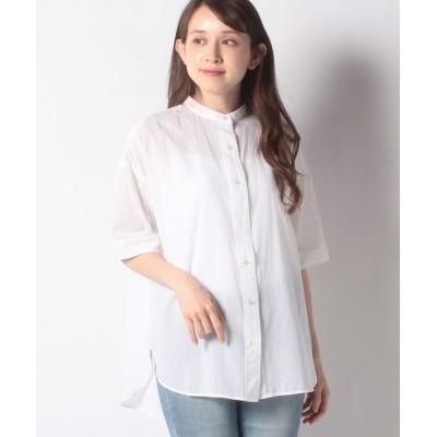 【メルローズ クレール】 バックタックバンドカラーシャツ レディース ホワイト F MELROSE Claire