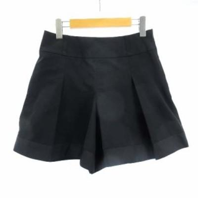 【中古】トゥービーシック TO BE CHIC ショートパンツ キュロットスカート 黒 ブラック 40 M RRR レディース