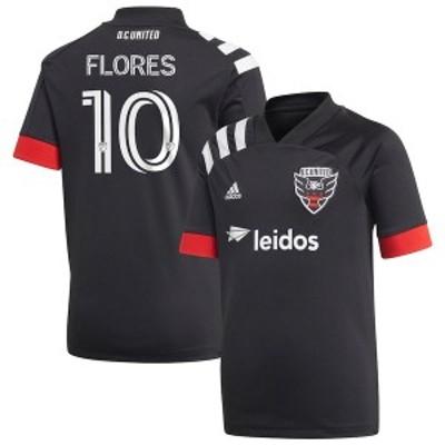 アディダス メンズ Tシャツ トップス Edison Flores D.C. United adidas 2020 Primary Replica Jersey Black