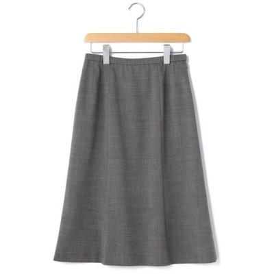 KORET/コレット シャンブレーウール スカート チャコールグレー 11