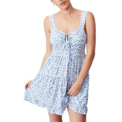 コットンオン レディース ワンピース トップス Woven Sandy Skater Dress KENDELLE DITSY AUTHENTIC BLUE