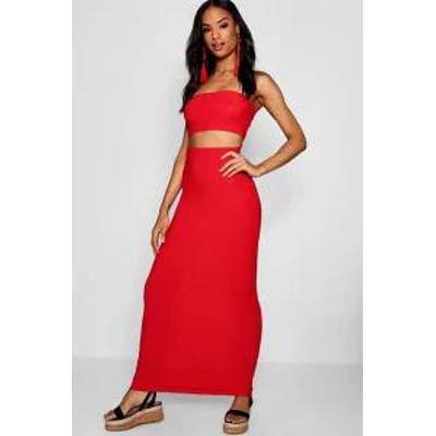 Boohoo レディーススカート red Boohoo Tall Basic Jersey Maxi Skirt