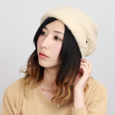 エリートシャポー アクロスキー ターバン 帽子 上品 シンプル ワンポイント レディース 秋冬 ELITE CHAPEAU ベージュ