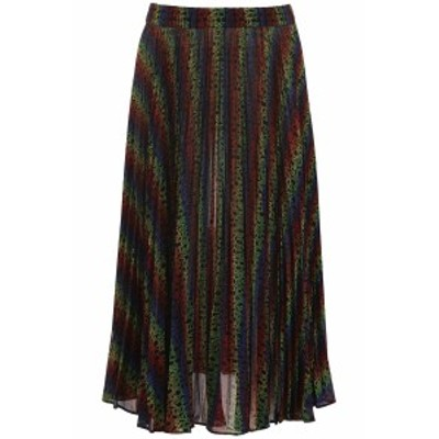 MICHAEL KORS/マイケルコース ロングスカート BLACK MULTI Michael michael kors multicolor monogram skirt レディース 秋冬2019 MU97EZ