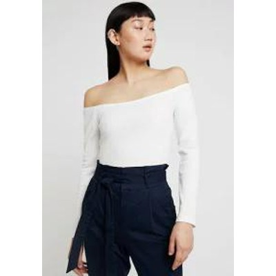 Pieces レディースその他 Pieces PCMAYA OFF SHOULDER - Long sleeved top - bright white bri