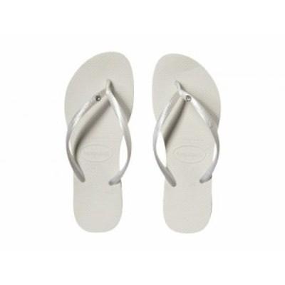 Havaianas ハワイアナス レディース 女性用 シューズ 靴 サンダル Slim Crystal Glamour SW Flip Flops White/Metallic【送料無料】