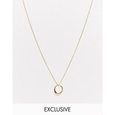 デザインビーロンドン レディース ネックレス・チョーカー アクセサリー DesignB London Exclusive necklace with ring detail in gold