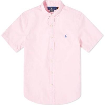 ラルフ ローレン Polo Ralph Lauren メンズ 半袖シャツ トップス short sleeve garment dyed button down shirt Carmel Pink