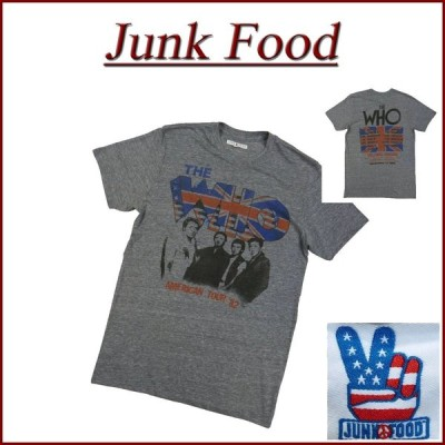 JUNK FOOD ジャンクフード THE WHO AMERICAN TOUR '82 ザ・フー 半袖 バンド Tシャツ WH080-7780