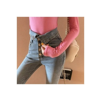 【送料無料】ネット 赤いズボン 女 超人気 ファッション 気質 2way ハイウエストのジーンズ 秋 | 346770_A63432-8868290