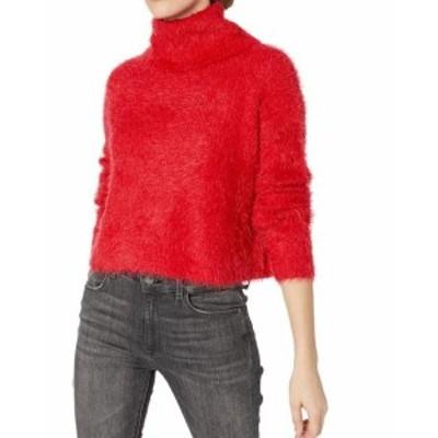 BB Dakota BB ダコタ ファッション トップス BB Dakota NEW Red Womens Size Small S Eyelash Knit Turtleneck Sweater
