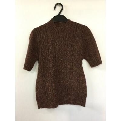 Nouvelle et Chic 茶mix 半袖セーター