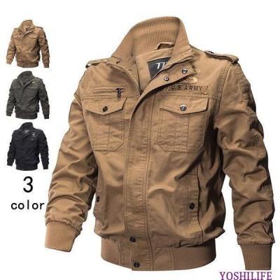 フライトジャケット メンズ ミリタリージャケット ジャケット ブルゾン コート アウトドア アウター 2タイプ 防寒 秋 冬