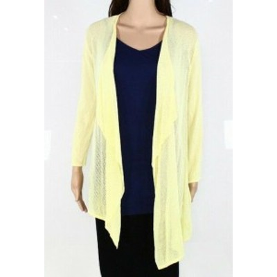 ファッション トップス Emaline Womens Sweater Pineapple Yellow Size Large L Cardigan Open Front