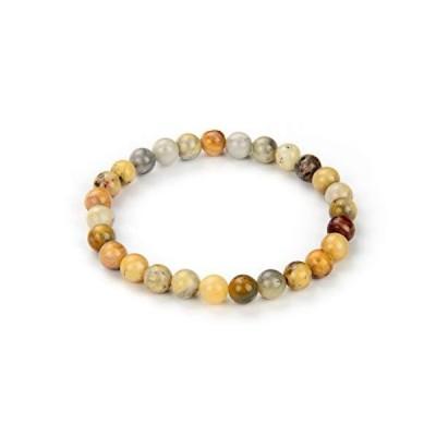 Natural Crazy Lace Agate Gemstone Beaded Bracelet 7.5 Inch Stretch Chakra G