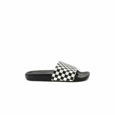 ヴァンズ サンダル Slide On Checkerboard White