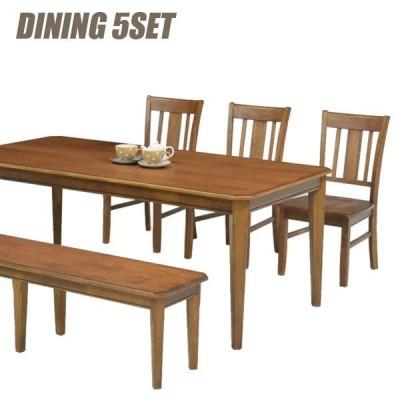 ダイニングテーブルセット 6人掛け 5点 北欧 モダン ナラ 木製 人気