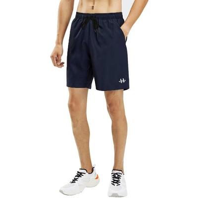 ランニング ショートパンツ メンズ ハーフパンツ ランパン ジョギング 短パン スポーツ ショートパンツ 調整可能 ウェア 5分丈 フィットネス 吸汗