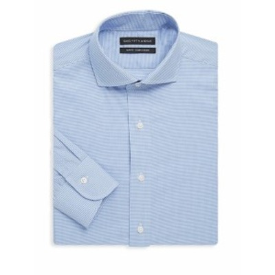 サックスフィフスアベニュー メンズ ドレスシャツ ワイシャツ Slim-Fit Gingham Cotton Dress Shirt