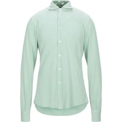 フェデーリ FEDELI メンズ シャツ トップス Patterned Shirt Light green