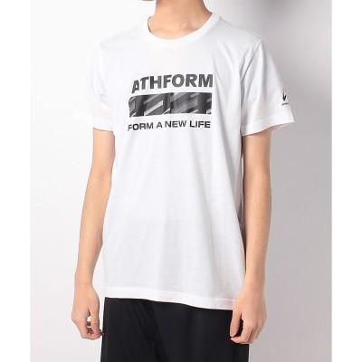 ATHFORM(アスフォーム) T/Cグラフィック半袖Tシャツ S WHT メンズ AF-S20-010-007